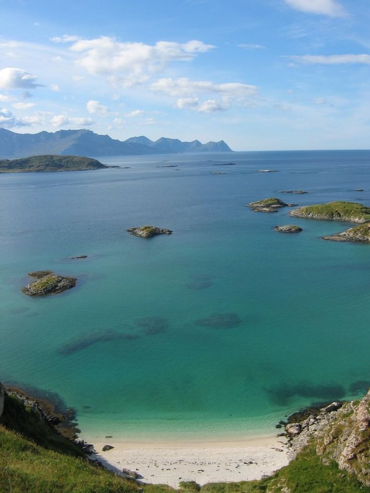 Sommarøy with a view towards Senja, Norway