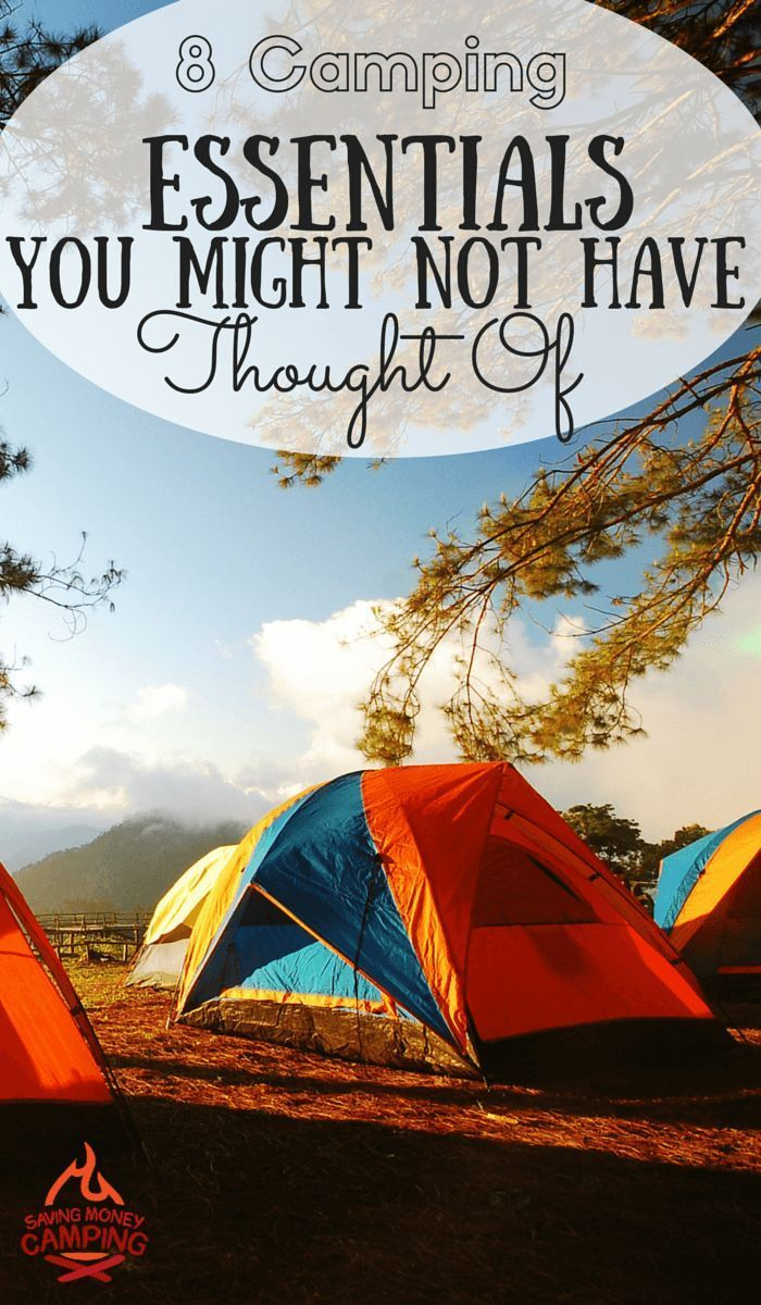 8 camping essentials you might not have thought of