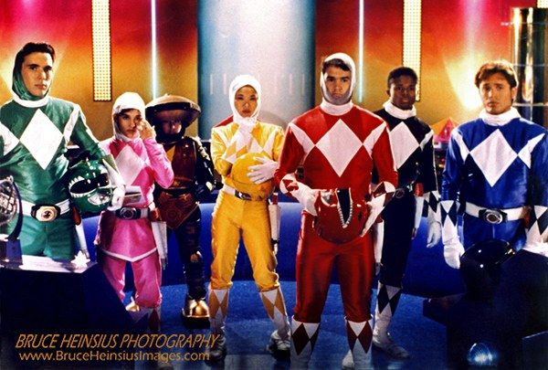 Power Rangers Unmasked. Some really cool behind-the-scenes photos by Bruce Heinsius the original photographer for the show.