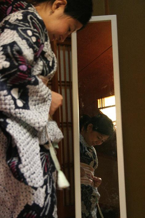 How to tie a Kimono