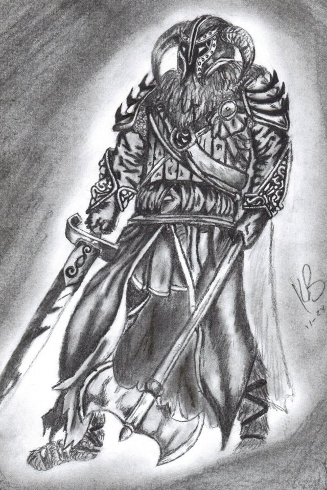 Viking tattoo design pencil drawing tattoo for Viking pencils