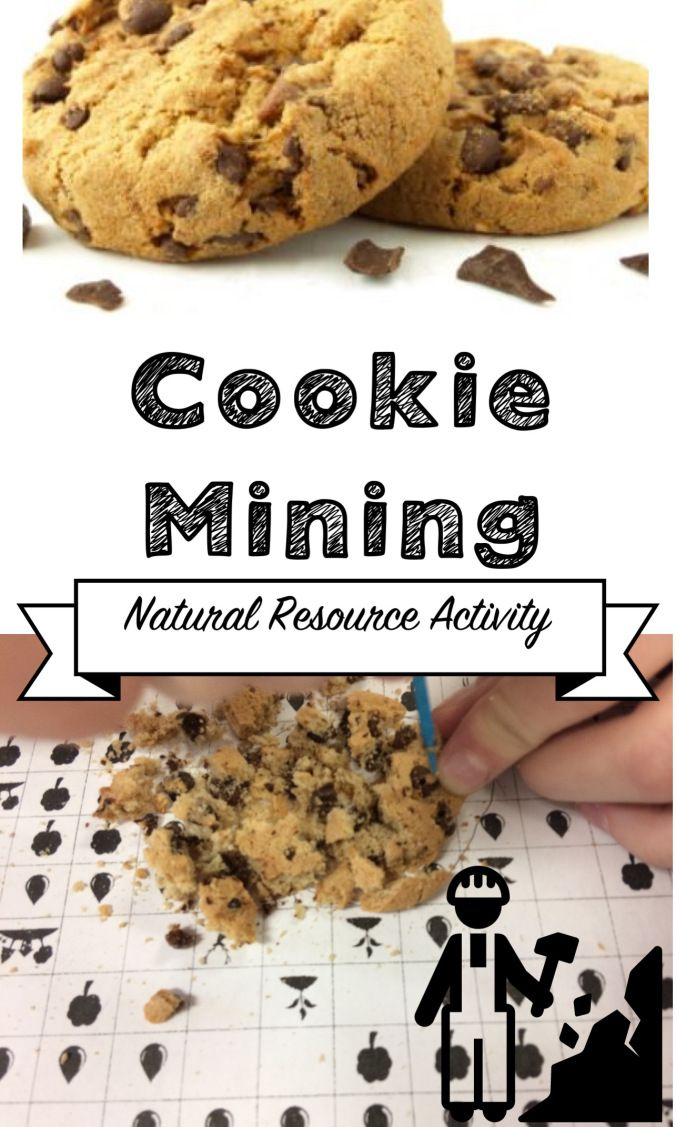 A natural resource activity.  Students mine for chocolate chips and see the effect on the environment.  NGSS Human Impact.