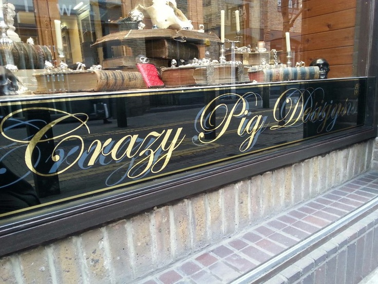 Crazy Pig Designs Covent Garden Gilded glass by NG Signs London