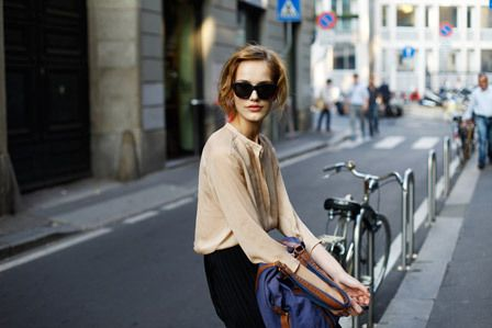 Blouses, Bicycles Style, Fashion Weeks, Chic Outfits, Mmm Fashion, Colors, Street Style, Fashion Inspiration, Pretty Birds