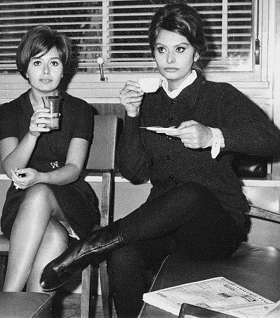 Sofia Loren and her younger sister Maria Scicolone, 1961 #actor