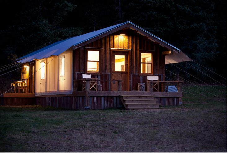 47 best permanent camping structures images on pinterest for Permanent tent cabins