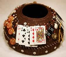 Horsehair Gaming Basket by Linda Aguilar