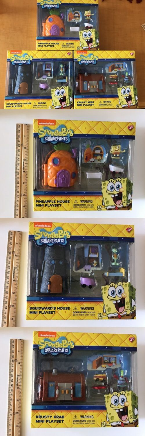 SpongeBob Squarepants 20919: Spongebob Squarepants Mini Playset Pineapple Squidwards Krusty Mr Krab 3 Sets -> BUY IT NOW ONLY: $34.99 on eBay!
