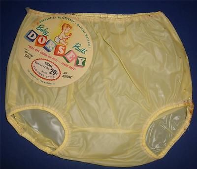 1950s vintage DORSEY BABY or Composition Doll rubber pants Diaper cover TAG sm