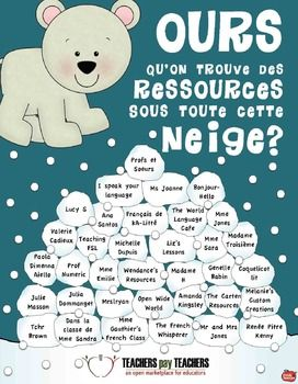 links to a whole lot of French teachers/resources, all in one snow pile!