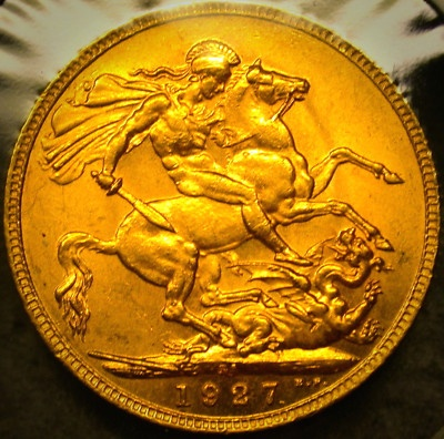 1927 South Africa GOLD SOVEREIGN a HIGH GRADE GEM
