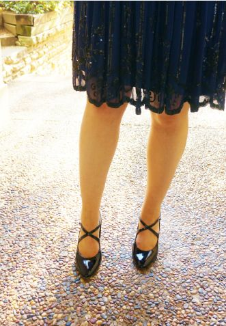 Blush & Bordeaux - Sequinned Statement. Alannah Hill dress, Wittner heels