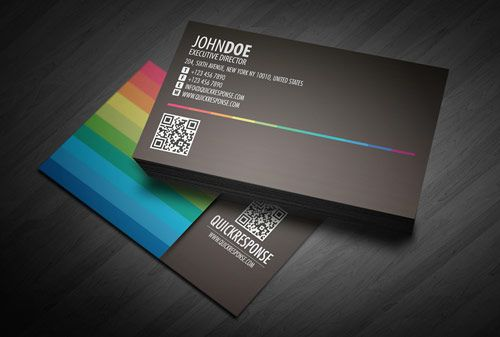 09 quickresponse businesscarddesign in Inspiring Double Sided Business Cards