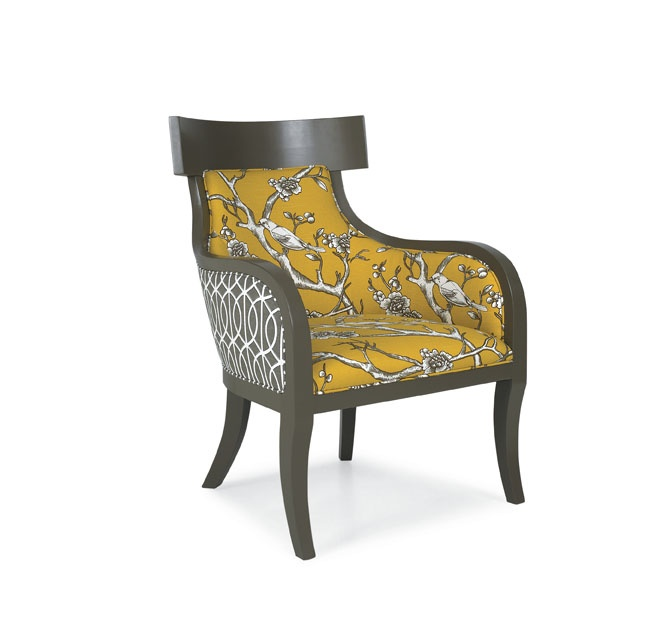 cr laine chair iliad chair with benjamin moore finish yellow accent