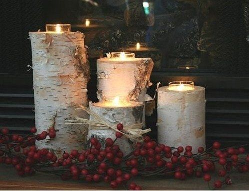 Rustic Christmas - Birch Candle Holders by LynnW | DIY ...