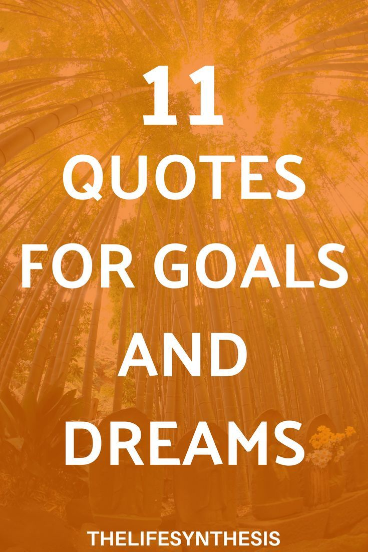 11 Quotes for Goals and Dreams