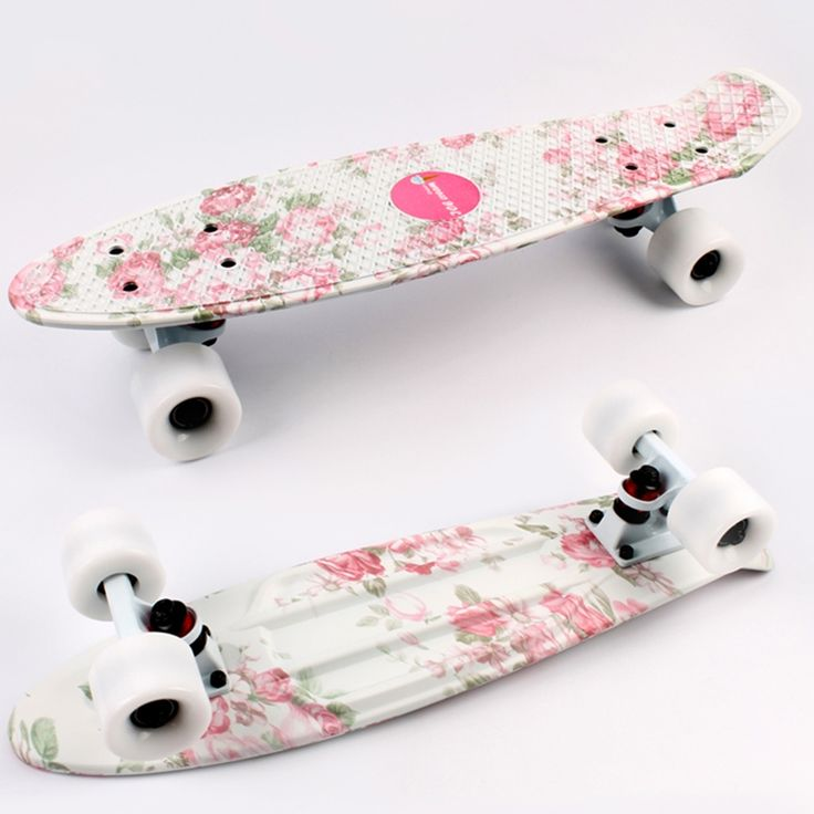 41.00$  Buy here - http://alil33.worldwells.pw/go.php?t=32650846737 - New 2016 cheap peny boards for sale complete Skateboard 22 griptape Retro Mini Skate long board cruiser white board for kids 41.00$