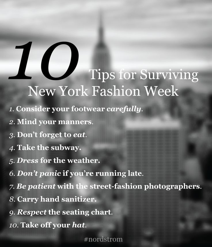 10 tips for surviving Fashion Week