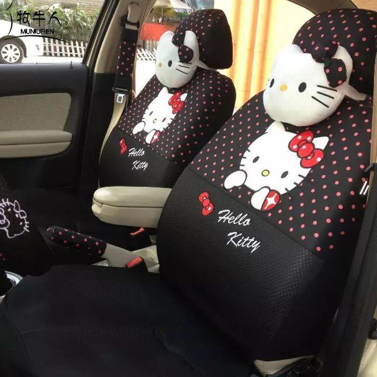 Cute Polka Dots Print Car Seat Covers for Women Girls Car