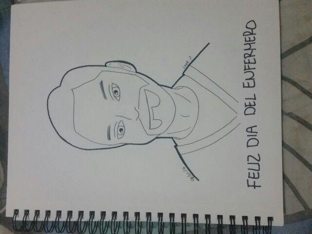 Feliz dia del enfermero, un dibujo para un amigo espero le guste // Happy nurse day, a drawing for a friend I hope he likes it #drawportrait #draw #nurseday #hopehelikesit