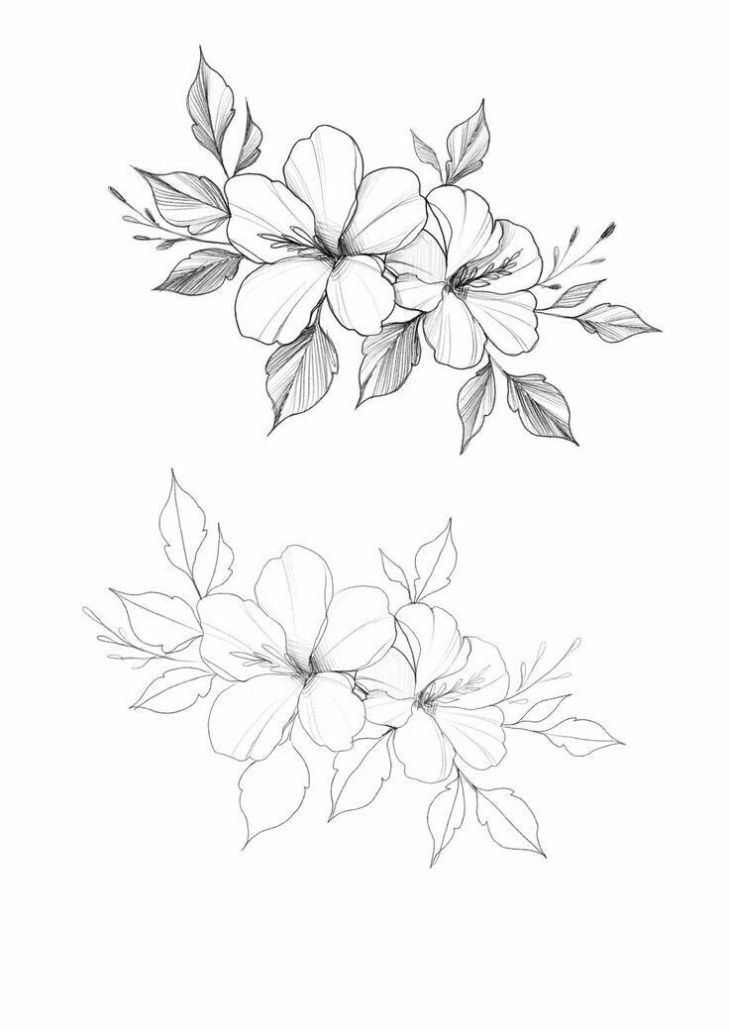 25 Beautiful Flower Drawing Ideas Inspiration Brighter Craft Beautiful Flower Drawings Flower Tattoo Drawings Flower Drawing