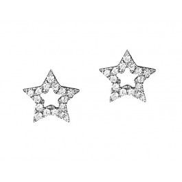 18CT DIAMOND MINI STAR EARRINGS
