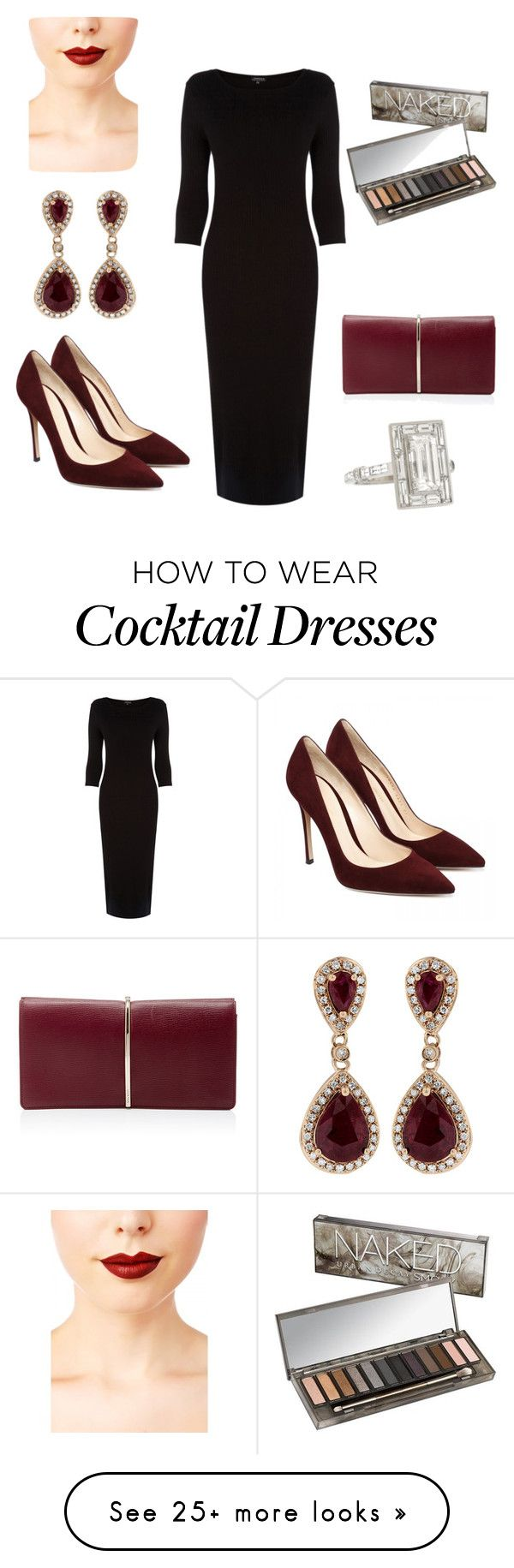 """""""Christmas cocktail"""" by clmccallum on Polyvore featuring Warehouse, Effy Jewelry, Nina Ricci, Jeffree Star and Urban Decay"""