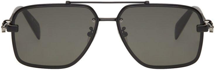 Alexander McQueen - Black Classic Caravan Sunglasses