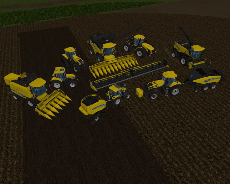 New Holland Yellow Set V 1.2 FS 2015 - Farming simulator 2015 / 15 LS mod