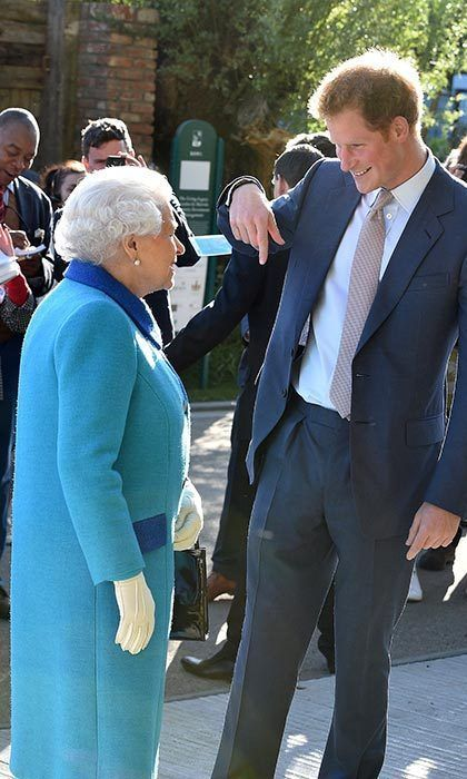Prince Harry clowning with Granny. How sweet they are!