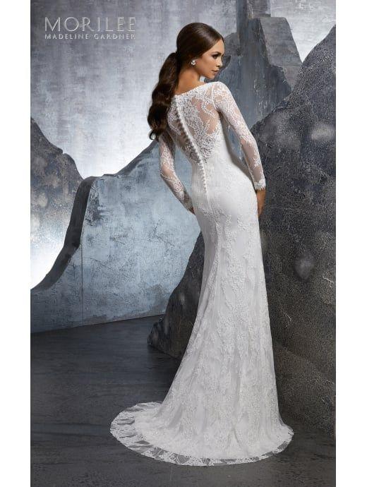 47a47af2063ca Mori Lee 5613 KIMI Long Sleeve Lace Brides Dress Ivory in 2018 | Wedding -  Dress | Pinterest | Wedding dresses, Wedding and Bridal