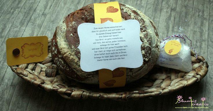 Zum einzug brot und salz verpackungen pinterest - Brot und salz gott erhalts ...