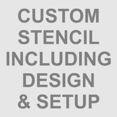 Custom Stencil Including Design & Setup, Custom Stencils, BCHST from Bromley Craft Products Ltd.