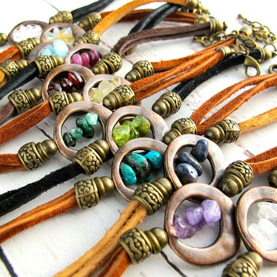Boho Birthstone Bracelets-Gemstone Bracelets For Women-Birthday Gift for Her-Boho Bracelets-Bohemian Bracelets-Genuine Gemstone Bracelets $39.99