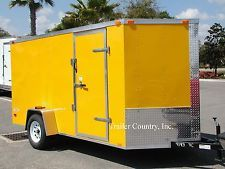 NEW 6x12 6 x 12 V-Nose Enclosed Cargo Trailer w/Rampheavy equipment trailers apply now www.bncfin.com/apply