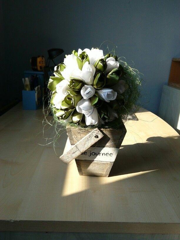 Kanzashi tulipanova kytica