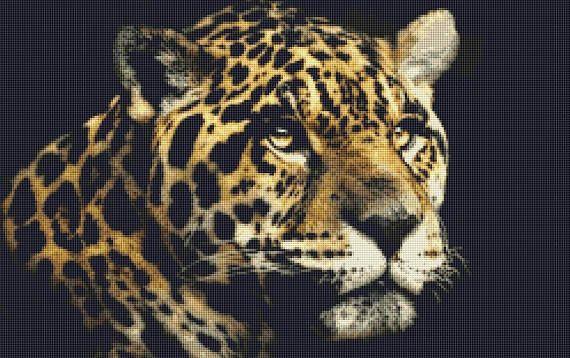 Jaguar Counted Cross Stitch Pattern / Chart Instant Digital
