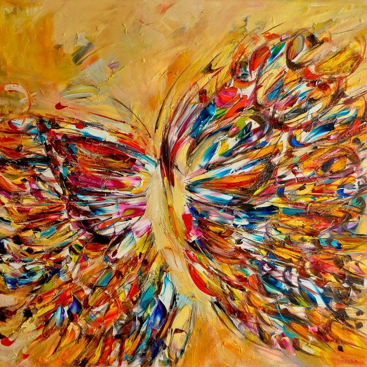 Abstract butterflies paintings abstract butterfly for Imagenes de cuadros abstractos famosos