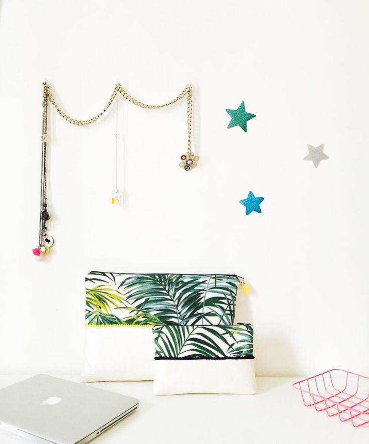 Une petite touche tropicale pour cette maxi Pochette pour MacBook 15 pouces 🌴 La plus petite s'affichera à notre bras pour nos jolies soirées estivales 💚 #pochette #macbook #macbookpro #macbookair #macbookcase #soiree #ete #vacances #tropicale #pompon #mariebesancon #creatrice #alittlemarket #etsy #fashion #fashionblogger #paillettes #etsyfr