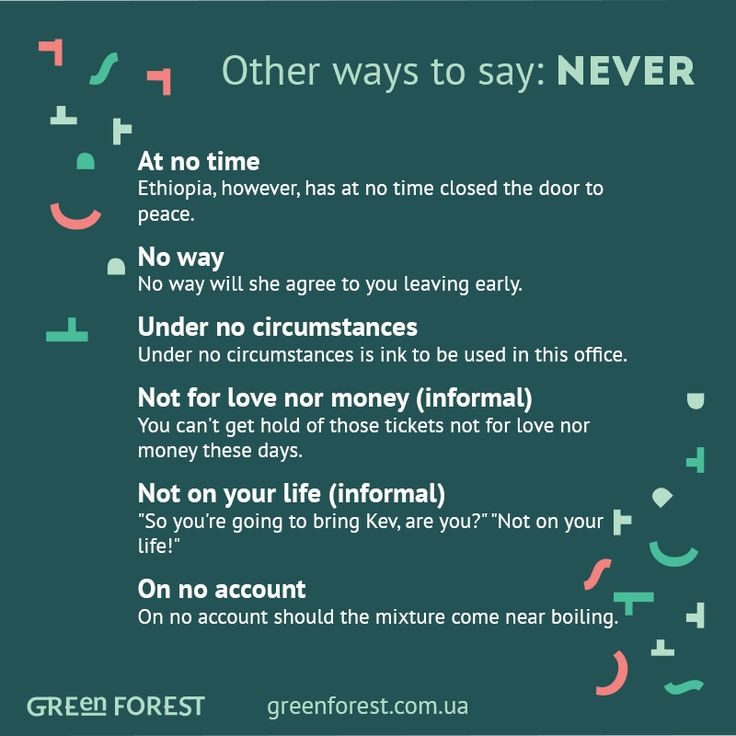 Synonyms to the word NEVER. Other ways to say NEVER ...