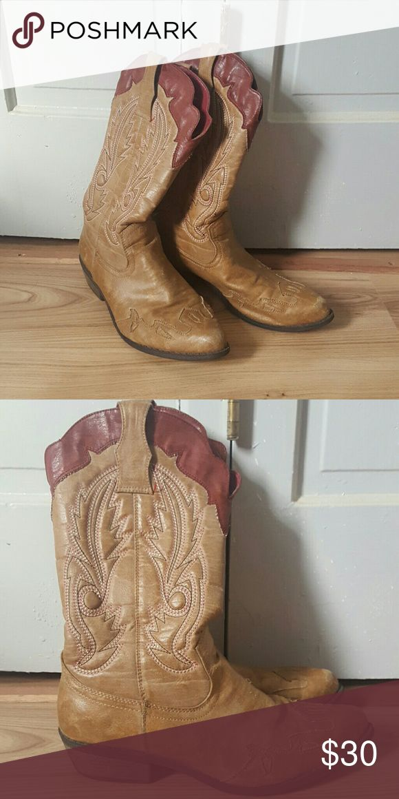 Dress Cowboy Boots Worn only a couple of times. These aren't your nice Ariat Cowboy Boots you wear in the cow pen. These were made for wearin with a dress or some cute skinny jeans! Coconuts Shoes Heeled Boots