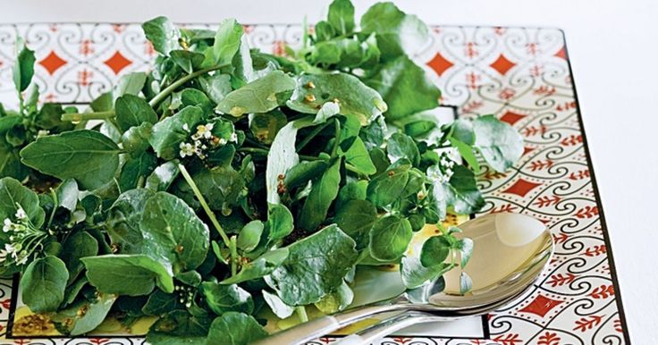 This simple watercress salad is dressed to impress in sweet honey mustard dressing.