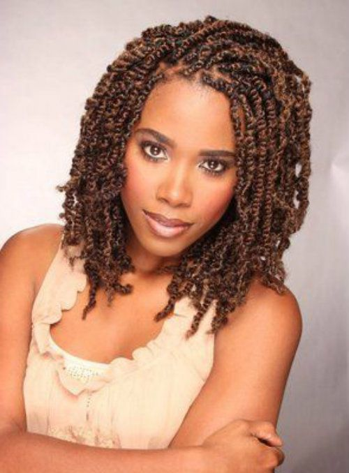 Double Strand Twist Hairdos for Black People