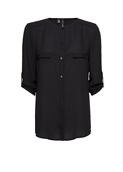 MANGO - Camisa holgada semitransparente