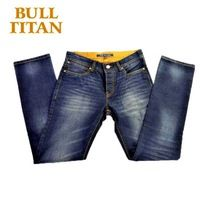 2015 new Men's summer wear100% cotton denim dark washed plus size colored jeans Casual BULL TITAN Jeans
