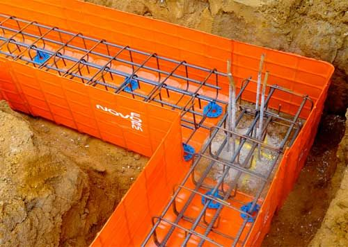 Novoform formwork elements for ground beams, pile caps and other foundations  http://www.devoran-metals.co.uk/novoforml-formwork.html