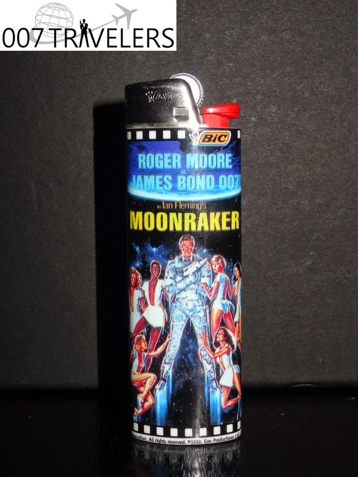 007 TRAVELERS: 007 Item: James Bond 007 Moonraker Bic lighter