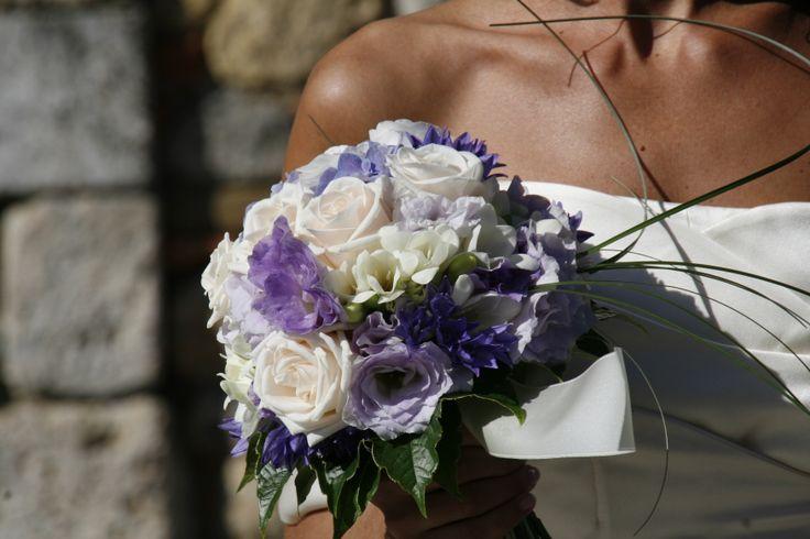 Valentina: bouquet bianco e lilla