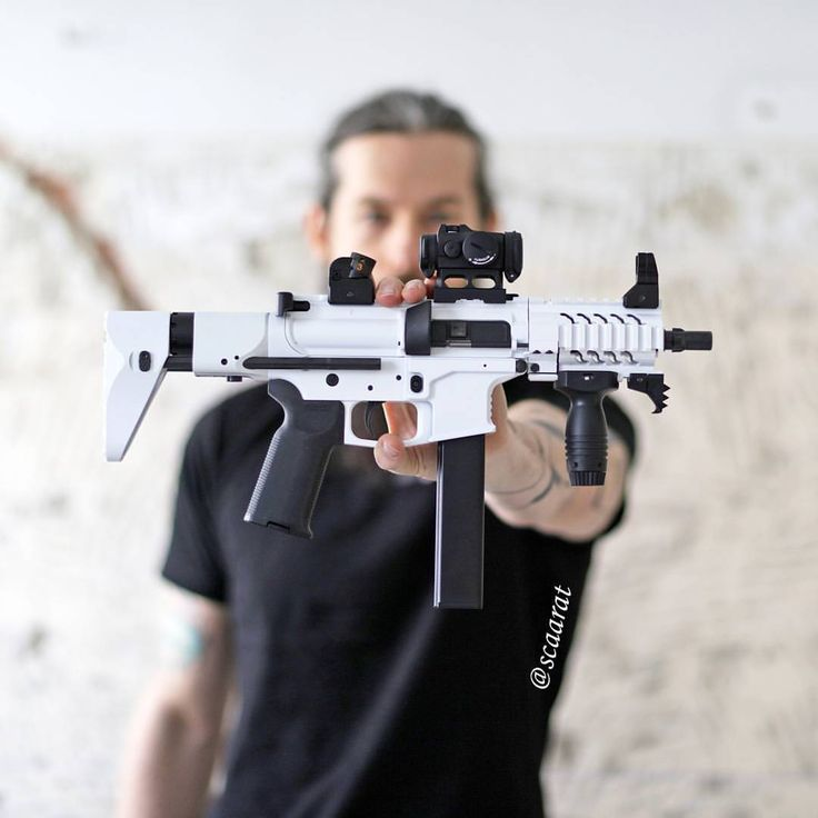 """2,606 Likes, 126 Comments - @scaarat on Instagram: """"Getting in the Star Wars mood with my 9mm CQB version of the First Order Stormtrooper Blaster.…"""""""