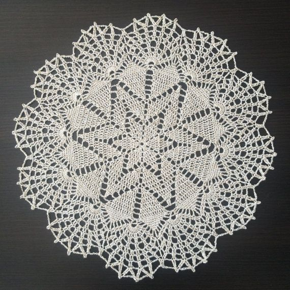 Christmas Star III  Handmade Lace Crochet by ZiNaCrochet on Etsy